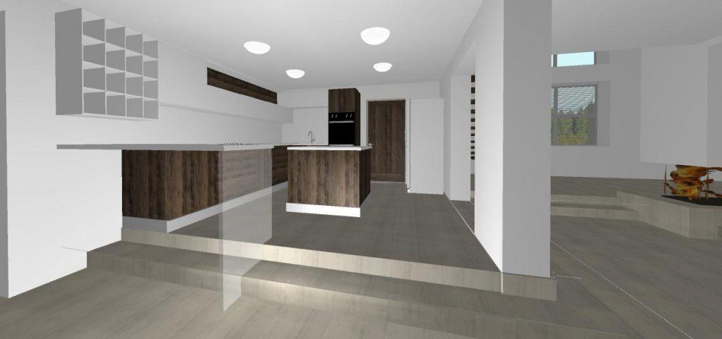 vizualizacia modernej kuchyne