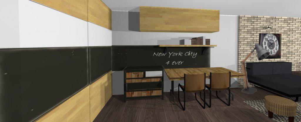 bytovy dizajn - navrh industrialneho interieru, Prievozska 1