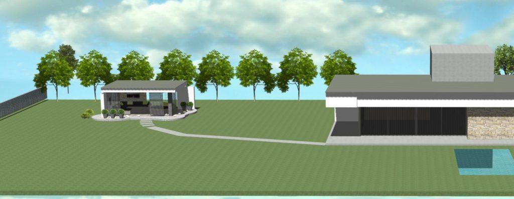 moderny altanok k modernemu domu