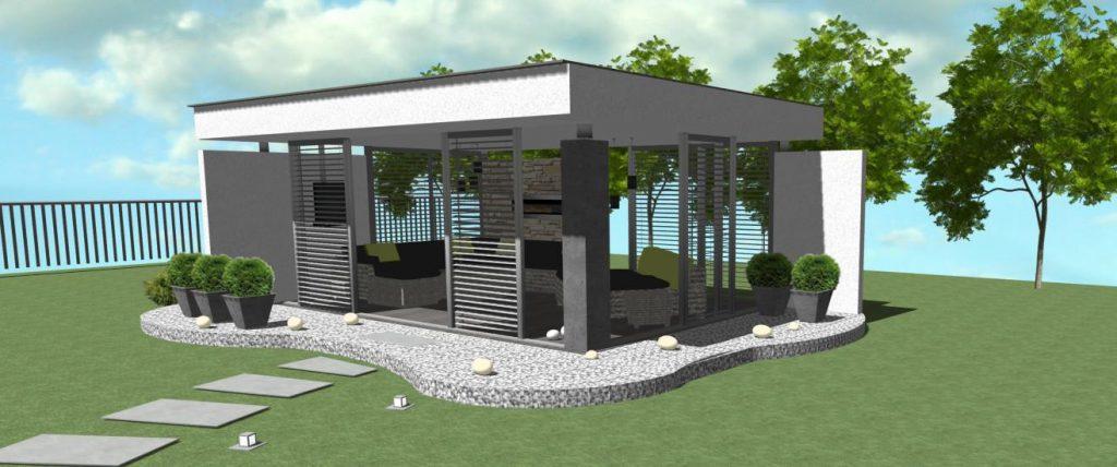 dizajn moderneho murovaneho altanku
