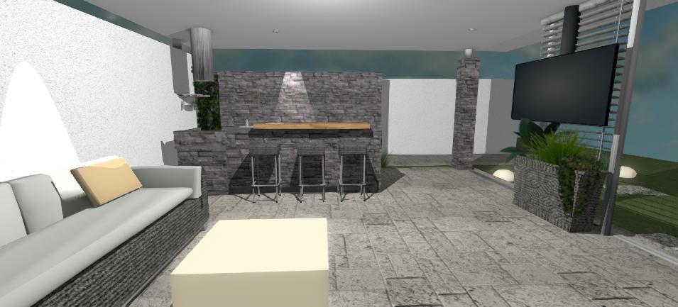 navrh moderneho interieru moderneho altanku