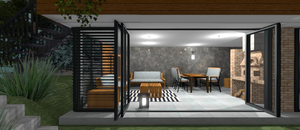 moderny altanok s otvorenymi dverami