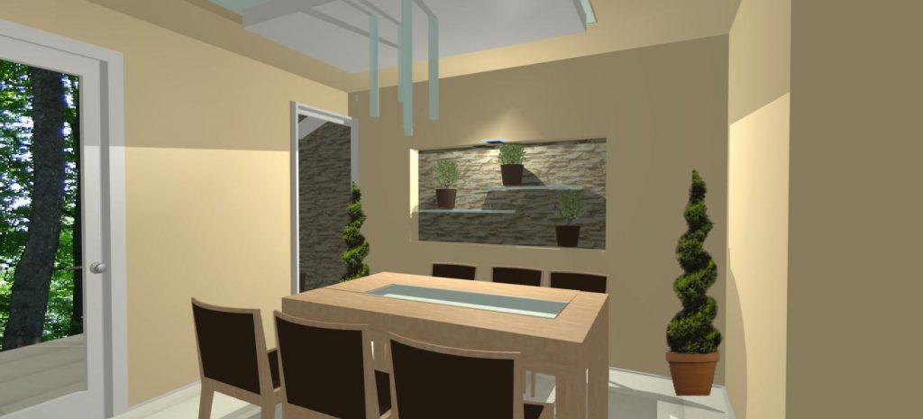 interierovy dizajn jedalne rodinneho domu