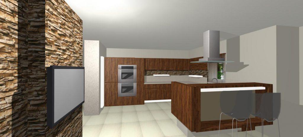navrh interieru kuchyne rodinneho domu