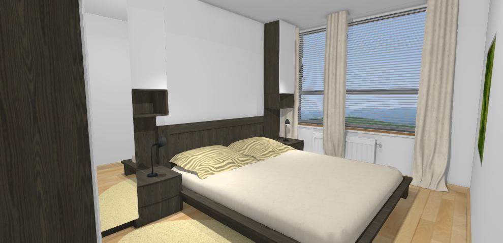 navrh spalne s uloznym priestorom