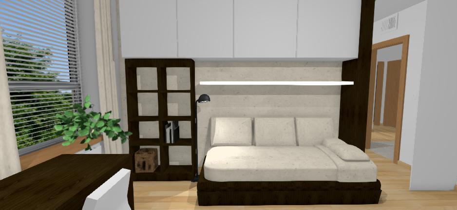 navrh izby s uloznym priestorom a so zrkadlom