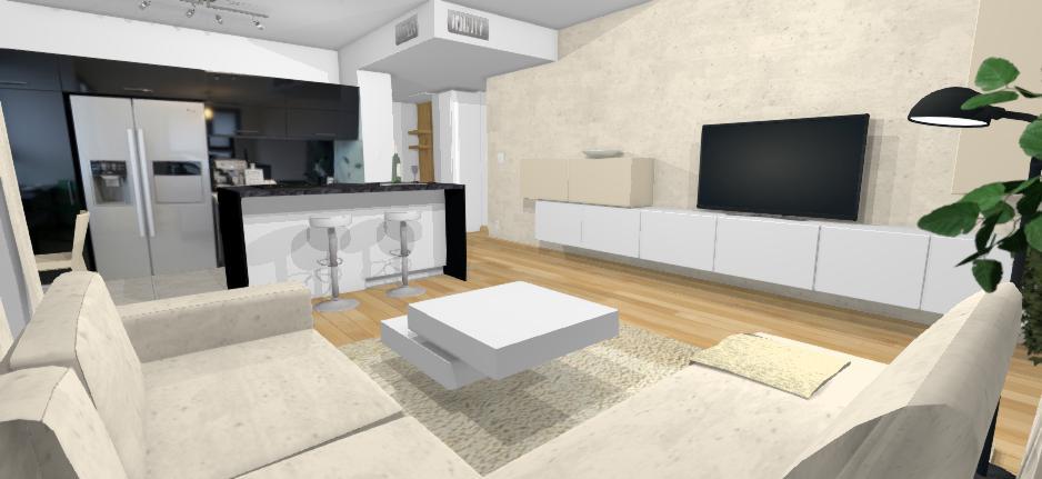 moderny byt v kontrastnom prevedeni