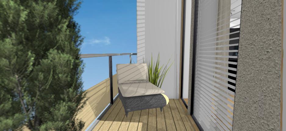 balkon s terasovymi doskami