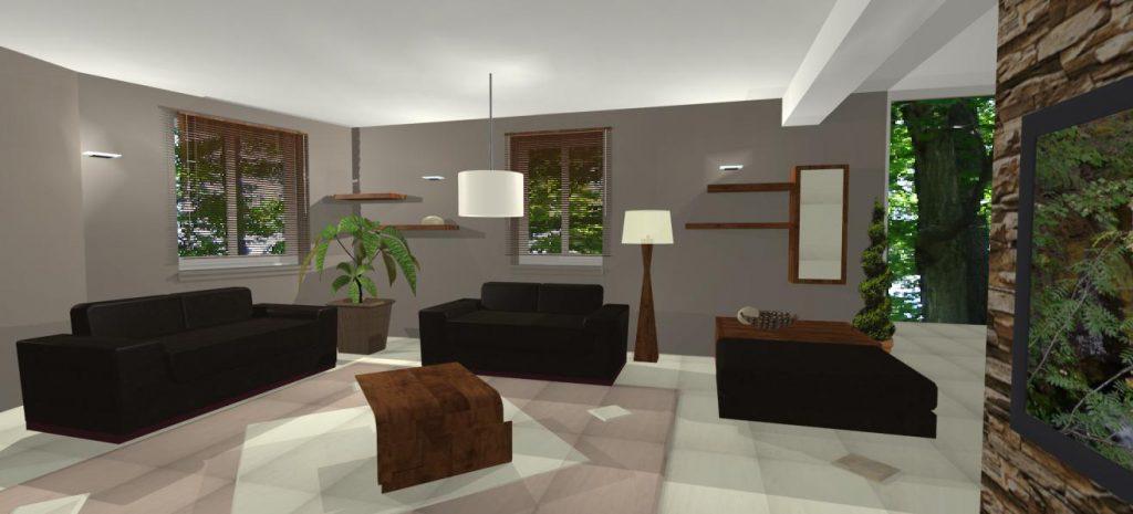 navrh interieru rodinneho domu
